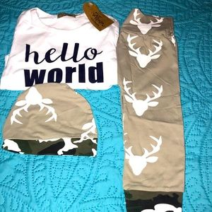 New 3Pc Pajamas
